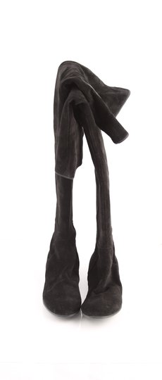 Giuseppe Zanotti Thigh High Suede Six Black Boots Image 1