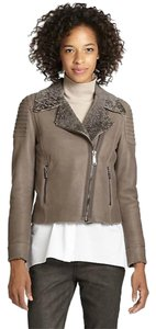 Elie Tahari Leather Motorcycle Motorcycle Jacket