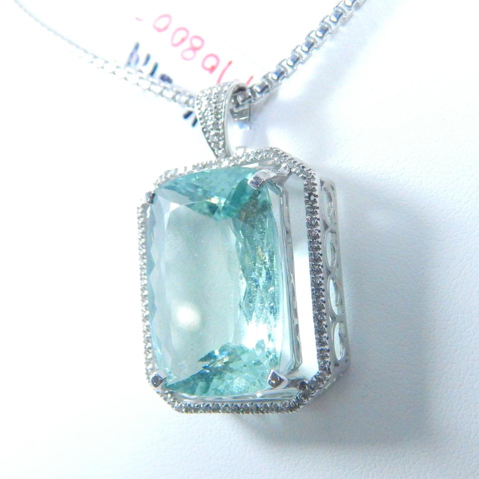 pendant coloured jewellers shape marine cellini aquamarine stones pear aqua product