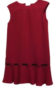 Kooples short dress Red and black on Tradesy