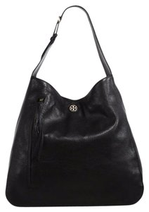 Tory Burch Leather Pebbled Leather Hobo Bag