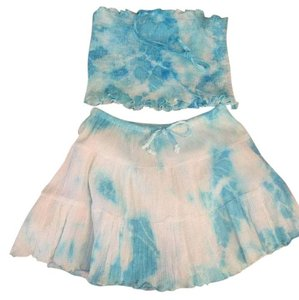 In Gear Kids short dress Turquoise Blue, White on Tradesy