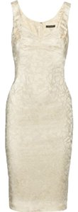 Zac Posen Cocktail Embroidery Embriodered Wedding Rehearsal Dinner Bachelorette Satin Dress