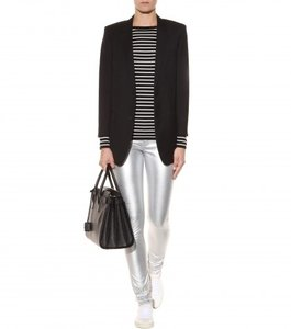Yves Saint Laurent Ysl Hedi Slimane Rock And Roll 70s Edgy Chic Leather Skinny Jeans-Coated