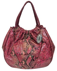 Elie Tahari Emmy Embossed Leather Trim Hobo Bag