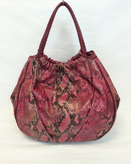 Elie Tahari Emmy Embossed Leather Trim Hobo Bag Image 11