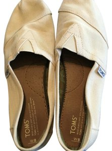 TOMS Off White Flats