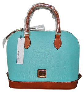 Dooney & Bourke Leather Green Lined Satchel in Mint