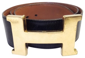 Hermès #7391 large 42 Mm Gold Polished Constance H Belt Leather