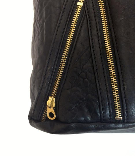 Marc by Marc Jacobs Leola Leather Zippers Tote in Black Image 7