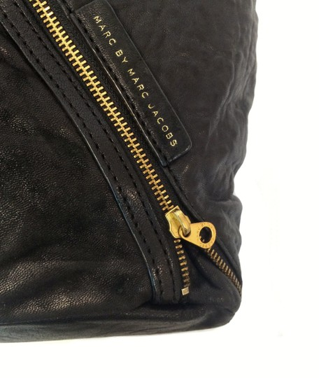 Marc by Marc Jacobs Leola Leather Zippers Tote in Black Image 8