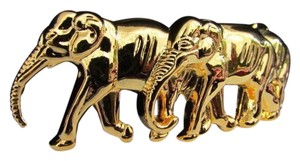 Other New Women Men Beautiful Shiny Gold Metal Fashion Buckle Thai Elephants For Thin Belts