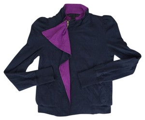 Marc by Marc Jacobs Rufflezipup Girly Navy & Fuscia Jacket