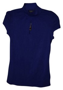 Express Fitted T Shirt Navy/Purple