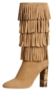 Burberry Jazmine Fringes Walnut Brown Boots