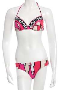 Emilio Pucci Red, pink multicolor Emilio Pucci two-piece signature print swimsuit M Medium 8 44