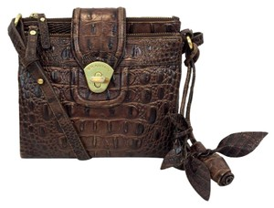 Brahmin Crocodile Embossed Cross Body Bag