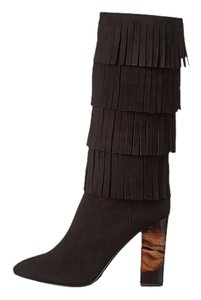 Burberry Jazmine Fringes Black Boots