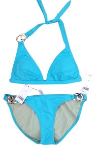 Banana Republic Banana Republic Aqua Blue Halter Padded Bikini Set
