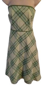 Ann Taylor LOFT short dress Green and White on Tradesy