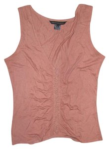 French Connection Embellished Top smokey pink