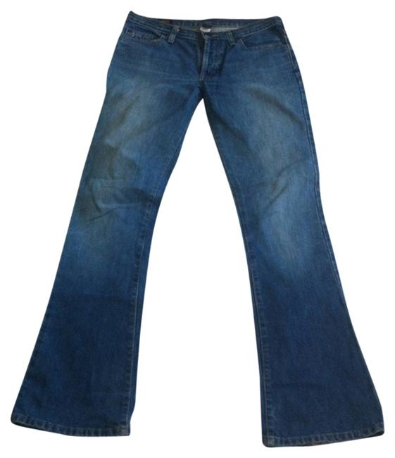 Abercrombie & Fitch Stone Wash Mid-rise Five Pocket Boot Cut Jeans-Medium Wash