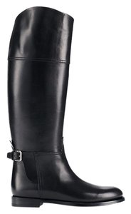 Ralph Lauren Collection Equestrian Burnished Black Boots