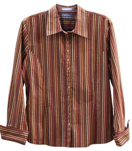 Faonnable Striped Classic Button Down Shirt multi stripes
