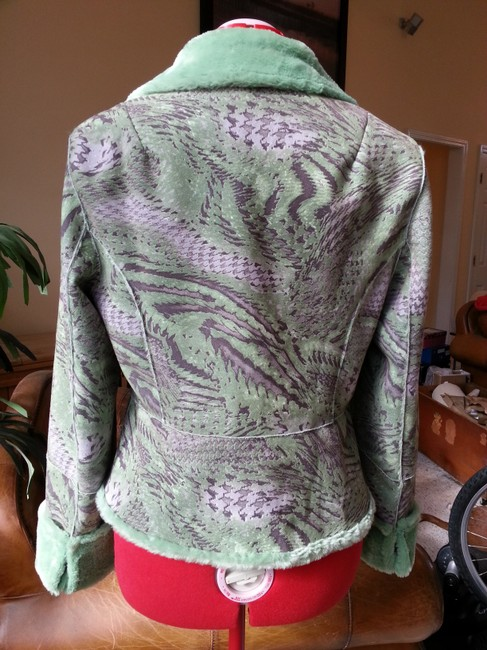 Other Faux Suede Faux Fur Green Jacket