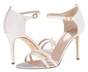 SJP Maggie 6 Strap Bridal White Sandals