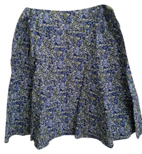 Context Skirt Blue Flowered