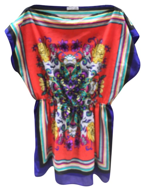 Item - Multicolor Bright and Bold Silky Feel Tunic Size 14 (L)