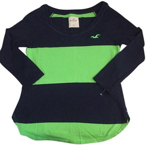 Hollister T Shirt Neon lime green, Navy