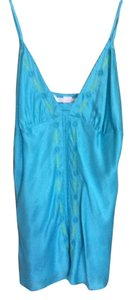 Victoria's Secret Silk Carribbean Beading Top Caribbean blue