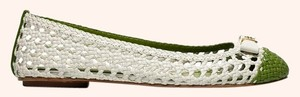 Tory Burch Carlyle Ivory/Green Flats
