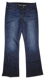 Calvin Klein Like New Low-rise Flare Leg Jeans-Dark Rinse