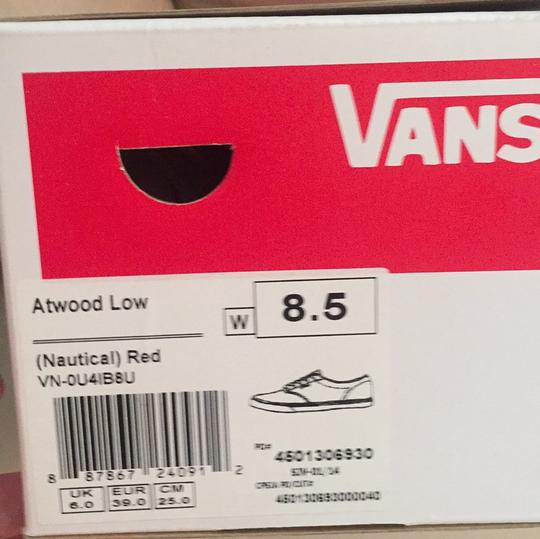 Vans Red, White Athletic Image 8
