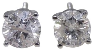 Diamond earring Round Cut White Solitaire Diamond Earrings