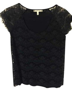 Joie Top Black Lace