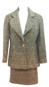Chanel CHANEL BOUTIQUE TWEED WOOL/LUREX SKIRT SUIT 38