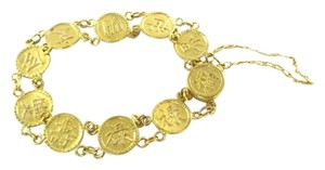24KT SOLID YELLOW GOLD KANJI JAPANESE SYMBOL BRACELET FINE JEWELRY 24.5 GRAMS