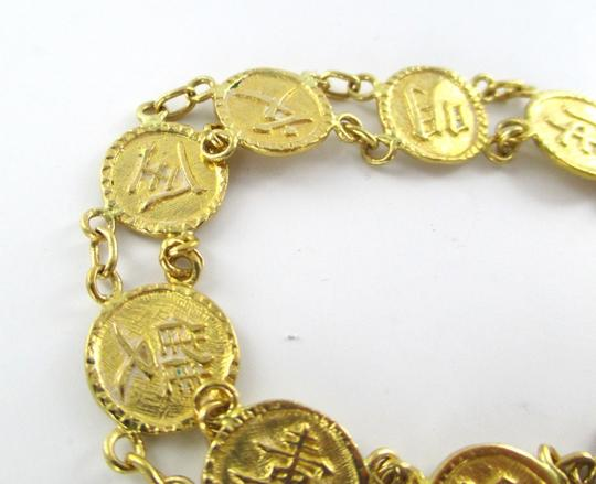 Other 24KT SOLID YELLOW GOLD KANJI JAPANESE SYMBOL BRACELET FINE JEWELRY 24.5 GRAMS