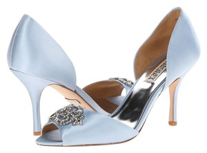 Badgley Mischka Salsa Bridal Light Blue Pumps