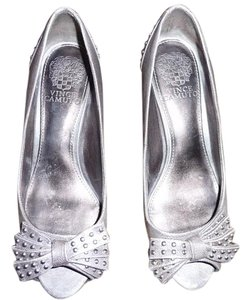 Vince Camuto Metallic Silver Pumps