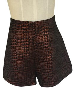 Lush Dress Shorts Bronze and Black