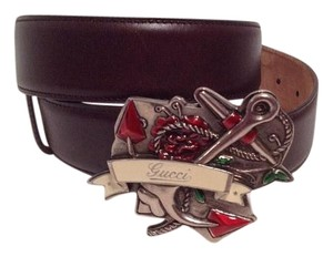 Gucci Sailor Anchor Logo Buckle with Belt fits 30