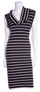 Oscar de la Renta short dress Navy & White Stripe on Tradesy