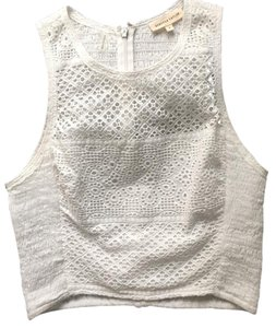 Rebecca Taylor Summer Lace White Top White eyelet