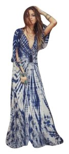 Blue & white Maxi Dress by