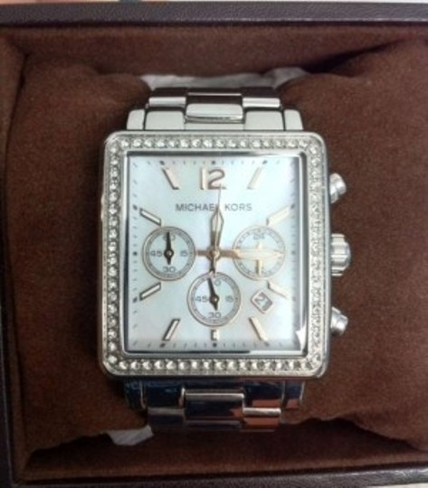 Michael Kors Silver rectangle watch
